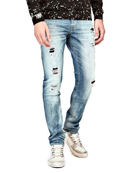 Jeans Superskinny Abrasioni