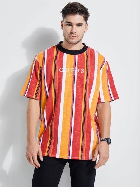 Imagen principal de producto de Camiseta Motivo A Rayas Logotipo - Guess