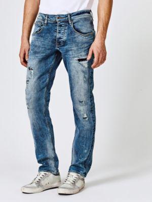 Jeans Slim Strappi Frontali