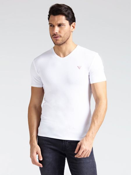 Imagen principal de producto de Camiseta Escote V Logo - Guess