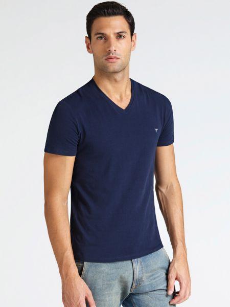 Imagen principal de producto de Camiseta Cuello En V Logotipo - Guess