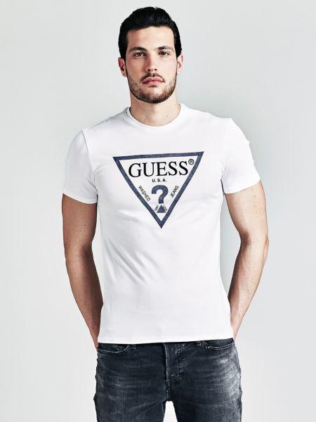 Guess - Camiseta Con Logo Triángulo Frontal - 1