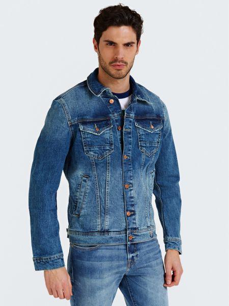 Klassische Jeansjacke | Bekleidung > Jacken > Jeansjacken | Blau | Baumwolle - Polyester | Guess