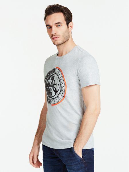 T-Shirt Imprimé Avec Logo Sur Le Devant