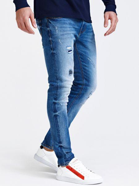 Jeans Used-Optik Abriebstellen | Bekleidung > Jeans > Sonstige Jeans | Blau | Baumwolle - Denim | Guess