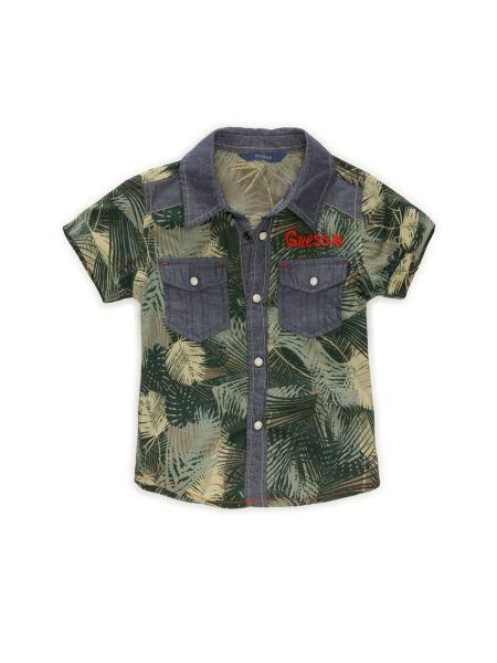 Poplin camou print shirt.