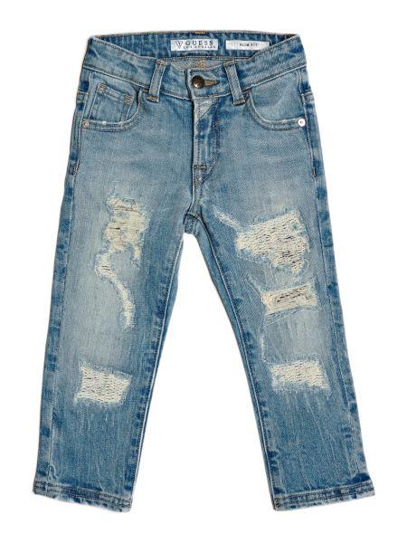 Jeans Slim Strappi