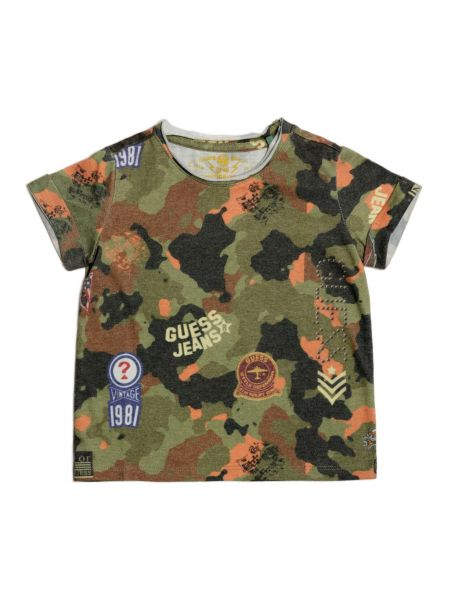T-Shirt In Cotone Effetto Camouflage
