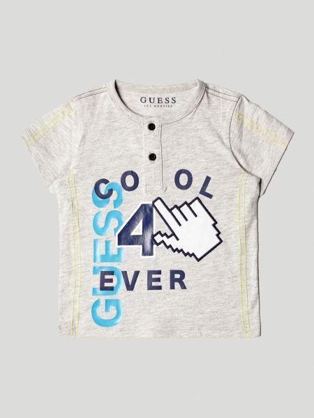 Imagen principal de producto de Camiseta Estampado Frontal Botones - Guess