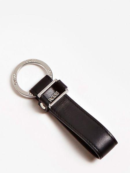 Schlüsselanhänger New Boston Echtes Leder | Accessoires > Schlüsselanhänger | Schwarz | Guess