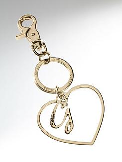 Open Heart Pendant Keyring