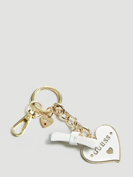 Schlüsselanhänger Charm Herz | Accessoires > Schlüsselanhänger | Weiß | Guess