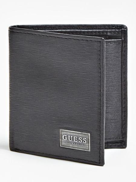 Portemonnaie New Marcus Echtes Leder Logo | Accessoires > Portemonnaies > Sonstige Portemonnaies | Schwarz | Metall | Guess