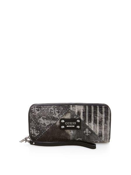 Langley dark denim large zip around wallet.