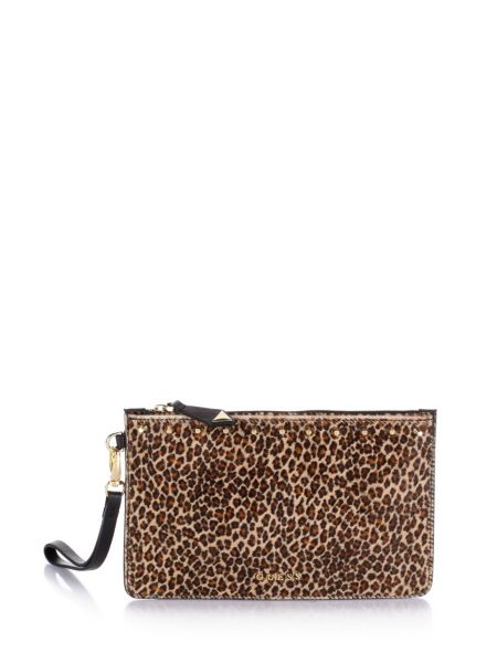 Savvy pony hair large pouch