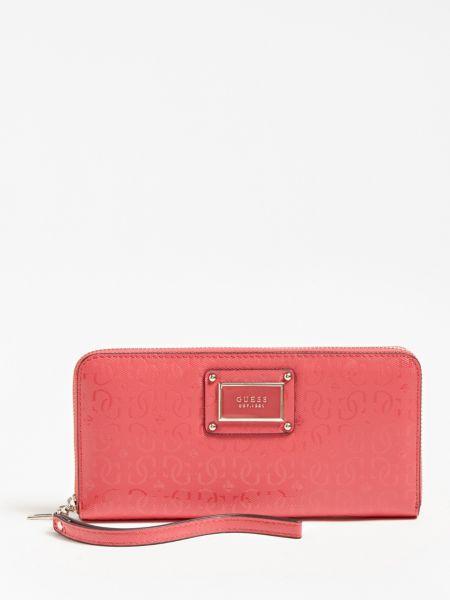 Portemonnaie Shannon Logo | Accessoires > Portemonnaies | Mehrfarbe rose | Metall | Guess