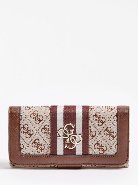 Portemonnaie Guess Vintage Logoprint   Accessoires > Portemonnaies > Sonstige Portemonnaies   Braun   Guess