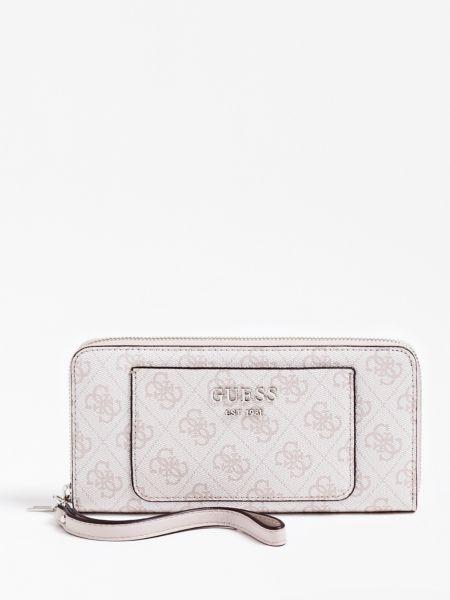 Portemonnaie Kathryn 4G-Logo   Accessoires > Portemonnaies > Sonstige Portemonnaies   Hellrose   Polyurethan   Guess