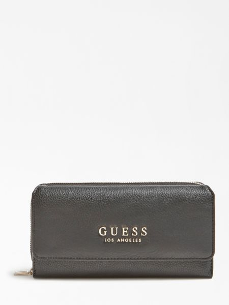 Portemonnaie Cary Gewalkte Optik | Accessoires > Portemonnaies | Schwarz | Guess