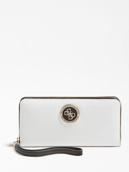Portemonnaie Landon 4G-Logo   Accessoires > Portemonnaies > Sonstige Portemonnaies   Mehrfarbig -  weiß   Polyurethan   Guess