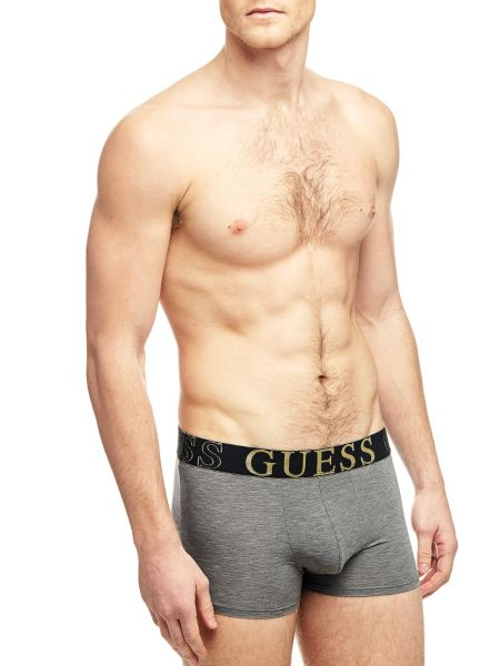 Image of Guess Black Diamond Logo Boxer