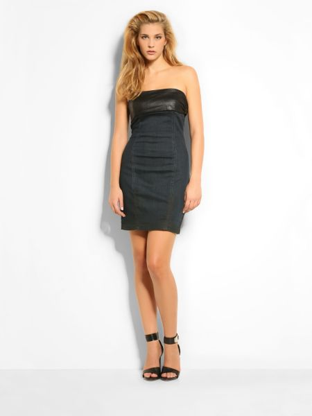 Rachel bustier denim dress