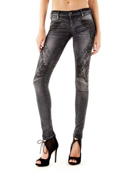 Jean skinny dentelle