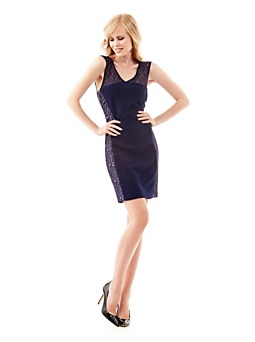 Ruthie lace insert dress