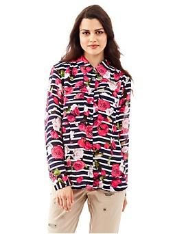 Charlotte Stripes and Flower Shirt
