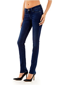 Jean droit push-up taille moyenne