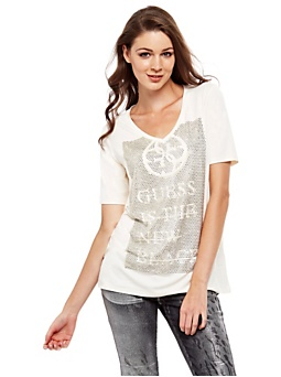 Comfort fit mixed viscose t-shirt