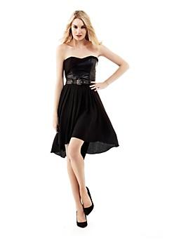 Synthetic bodice dress