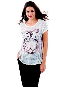 T-shirt avec imprimé tigre