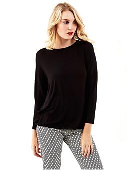 T-shirt avec drapé dans le dos