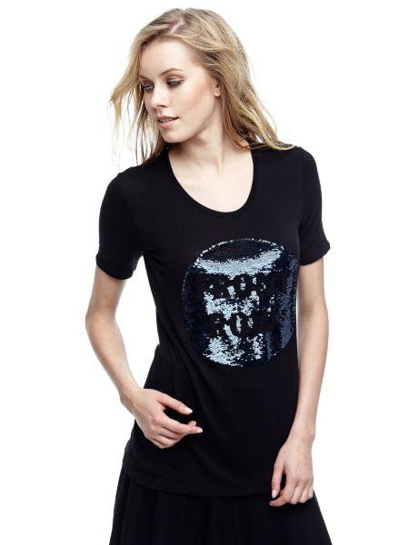 T shirt paillettes logo