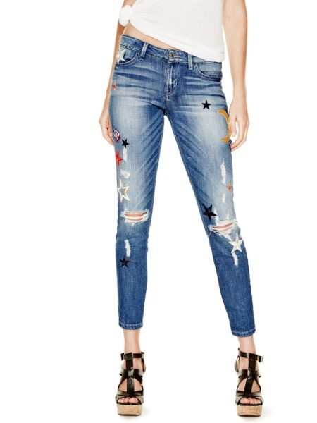 Jeans Skinny Applikationen