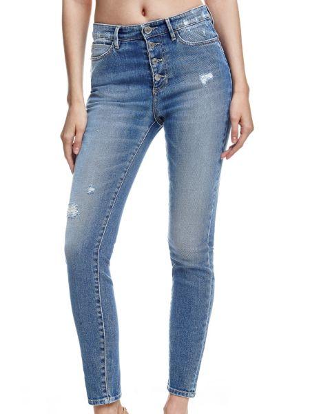 Jean skinny boutons