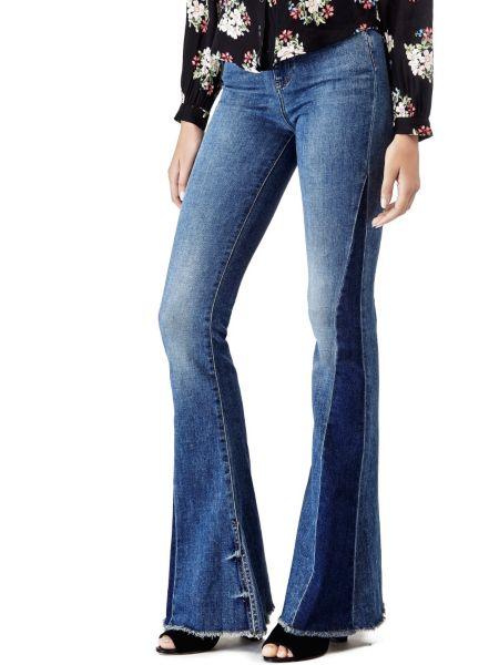 Jeans Bicolor A Zampa