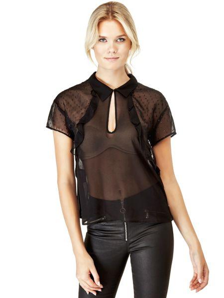 Camicia Con Tessuto Trasparente