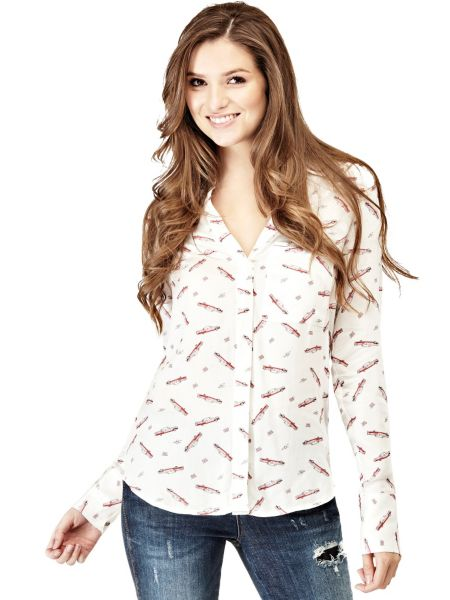 Bluse Allover-Print - Guess