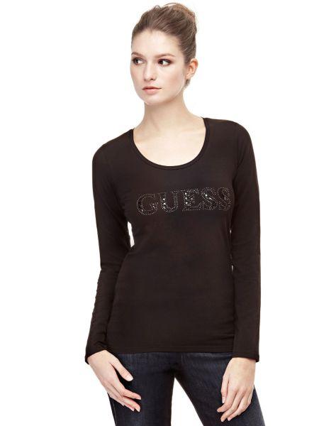 T-Shirt Logo Con Strass