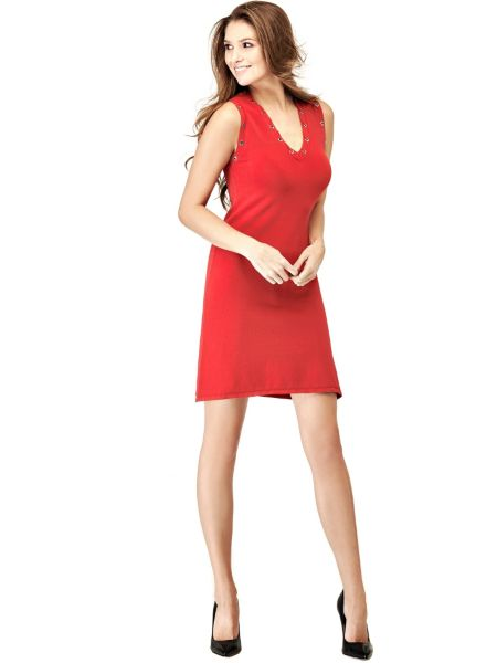 Kleid Aus Viskosemix Blumen - Guess