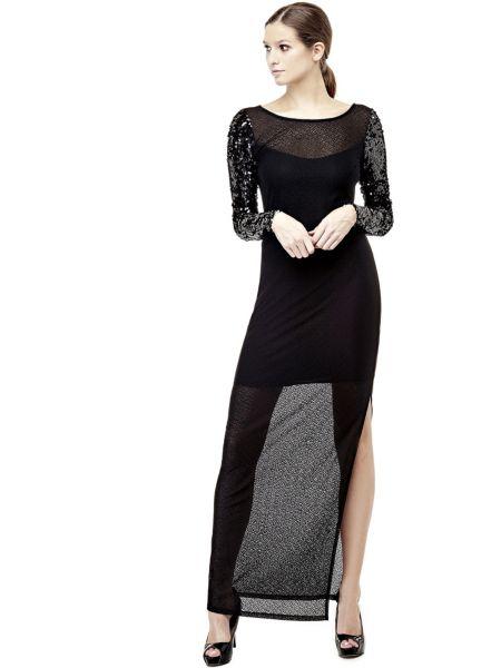 Kleid Ärmel Mit Pailletten - Guess
