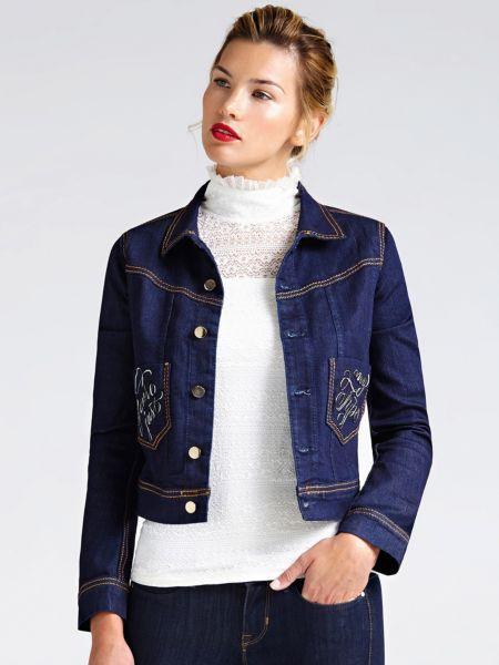 online store 2ae0e 69446 Jeansjacke Bestickte Taschen