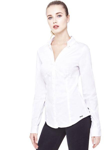 Klassische Bluse Aus Baumwolle - Guess