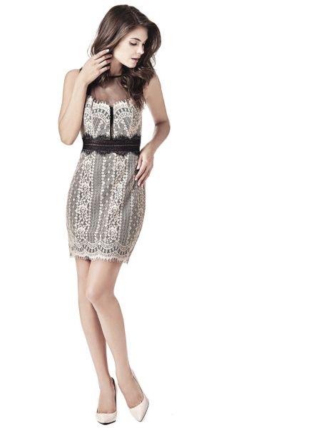 Imagen principal de producto de Vestido Encaje Tejido Transparente - Guess