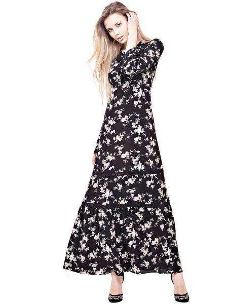 Langes Kleid Blumenprint - Guess