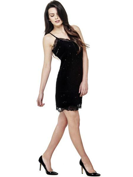 Kleid Aus Spitze Und Pailletten - Guess
