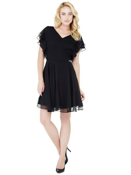 Kleid Fließendem Stoff - Guess