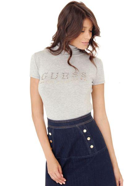 Imagen principal de producto de Suéter Cuello Alto Logo Con Strass - Guess